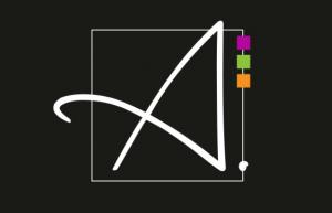 logo atelier della resina nero